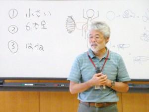 講演会「昆虫のことば」おなじみ久留飛先生がやさしい昆虫のおはなしをします。